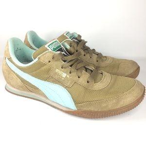 Womens Puma LAB II Blue Tan Shoes 6.5
